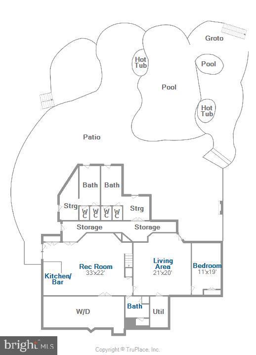 Lower level floor plan - 20179 GLEEDSVILLE RD, LEESBURG
