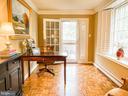 Sun room with office set up - 7716 RIDGECREST DR, ALEXANDRIA