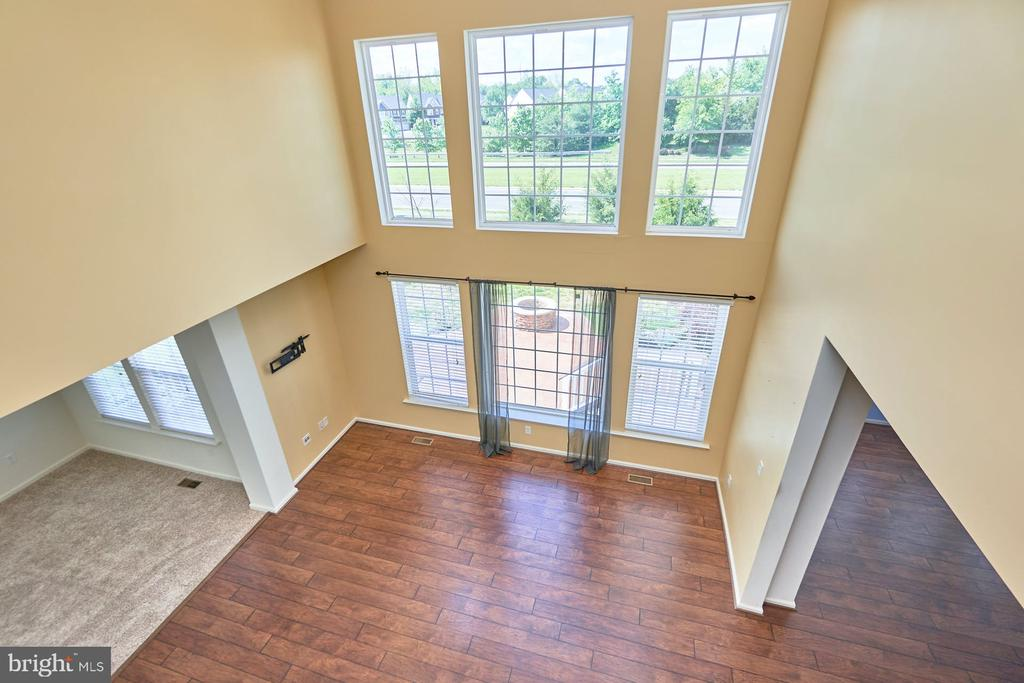 View from Upper Hallway to Family Room - 13944 BARRYMORE CT, GAINESVILLE