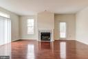 Family Room with Fireplace - 44257 MOSSY BROOK SQ, ASHBURN