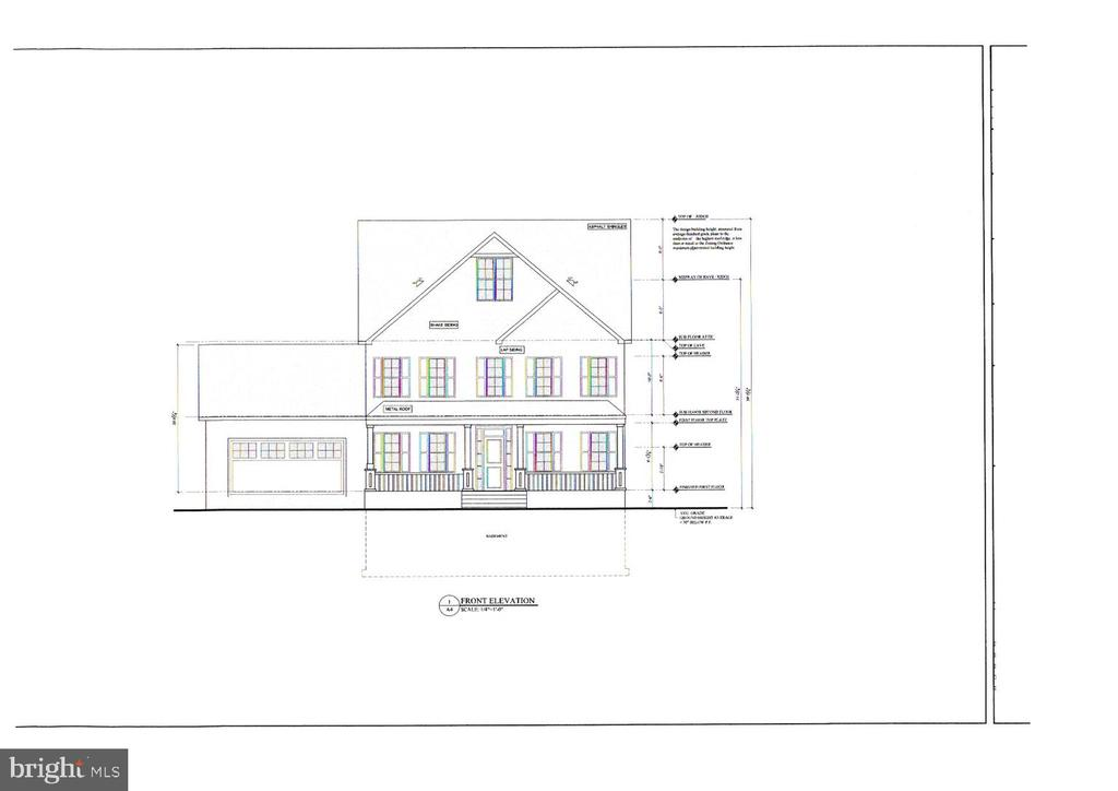 NEW Home to be built - Front elevation - 4516 BURKE STATION RD, FAIRFAX