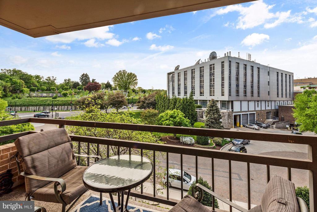 Good sized balcony facing west. - 2111 WISCONSIN AVENUE, NW #420, WASHINGTON