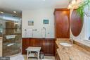Walk in glass shower - 13619 BRIDGELAND LN, CLIFTON