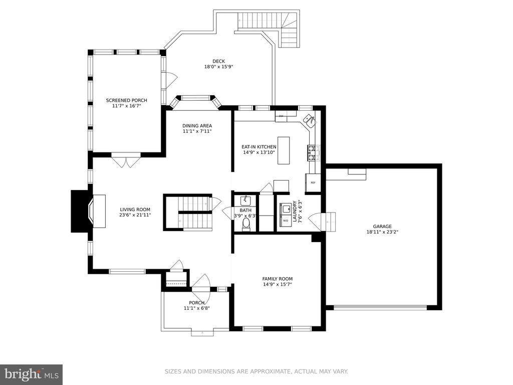 Main level floor plan - 13619 BRIDGELAND LN, CLIFTON