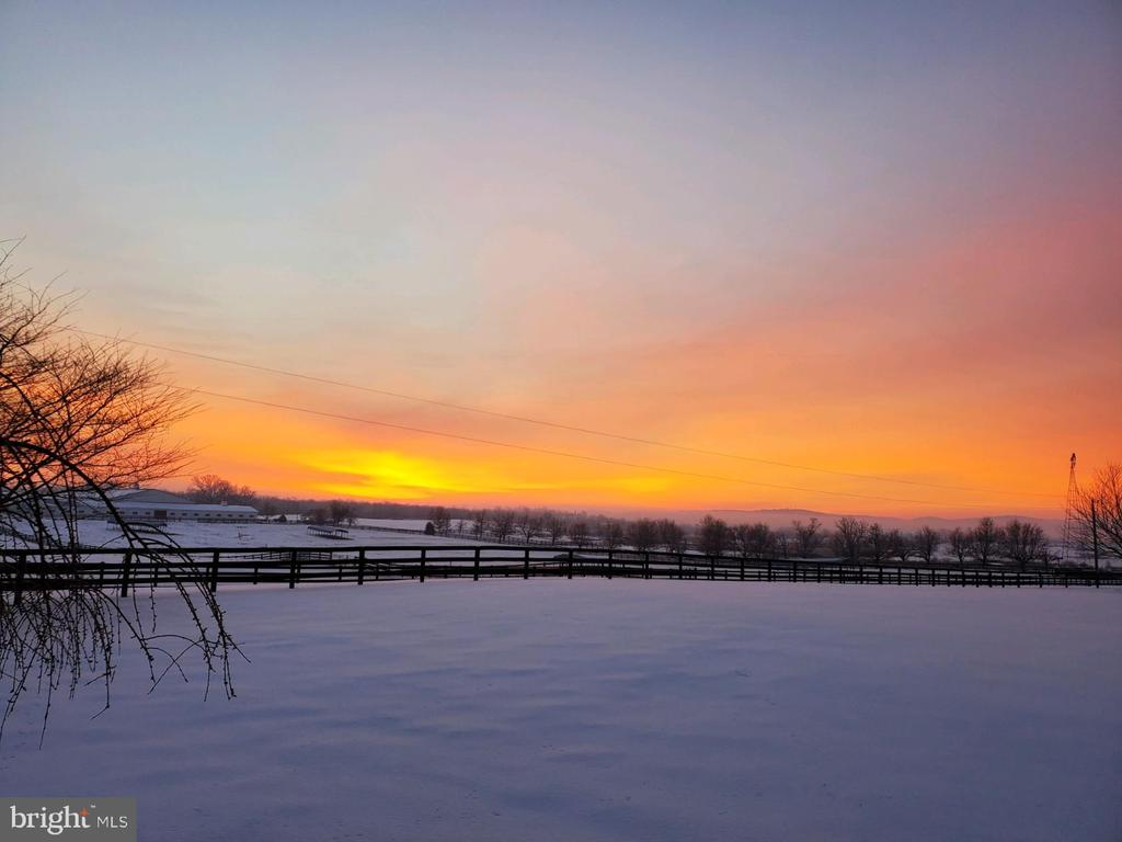 Sunrises are beautiful from the front porch - 14915 LIMESTONE SCHOOL RD, LEESBURG