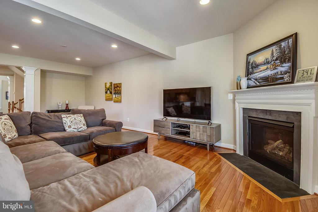 Gas fireplace - 24953 EARLSFORD DR, CHANTILLY