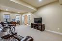 Large rec rm/ofc off the foyer - note the doors - 24953 EARLSFORD DR, CHANTILLY