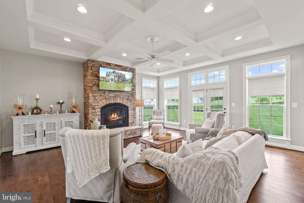 Family Room w/Gas Fireplace (TV Conveys) - 35543 GREYFRIAR DR, ROUND HILL