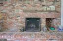 Fireplace - Entire Wall and Raised Hearth of Brick - 2502 CHILDS LN, ALEXANDRIA