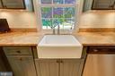 Kitchen Farmhouse Sink with Window Overlooks Yard - 2502 CHILDS LN, ALEXANDRIA