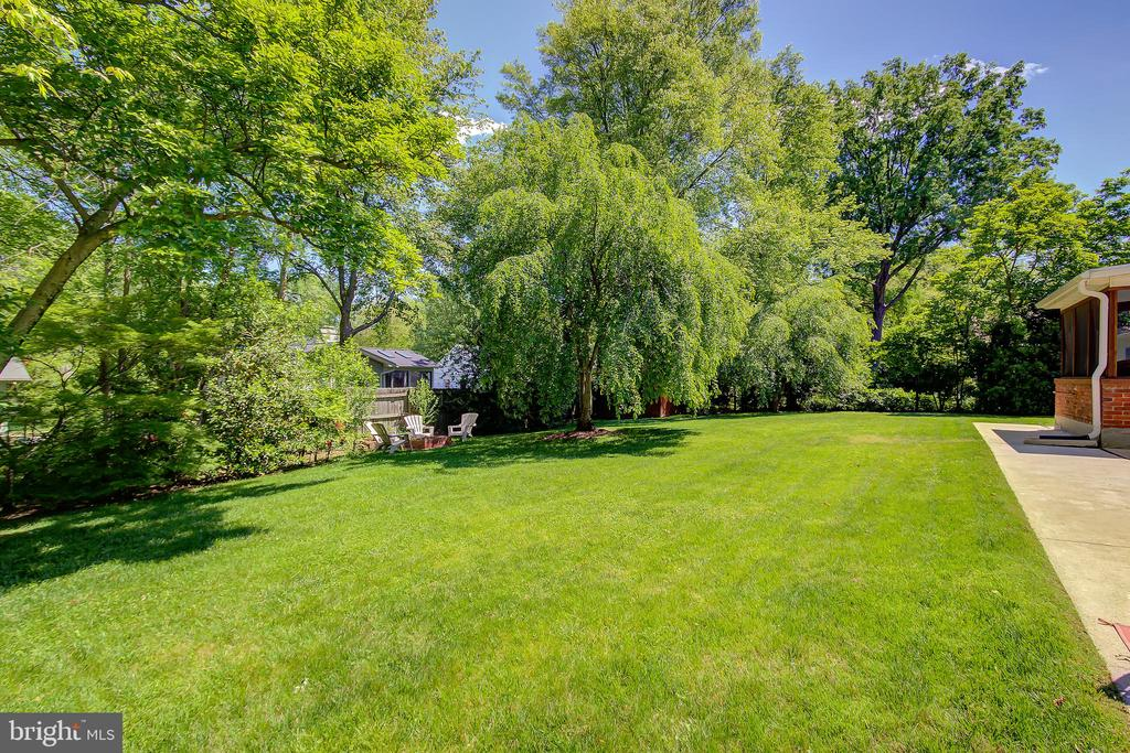 Private Rear Fenced Yard with Lush Green Lawn - 2502 CHILDS LN, ALEXANDRIA