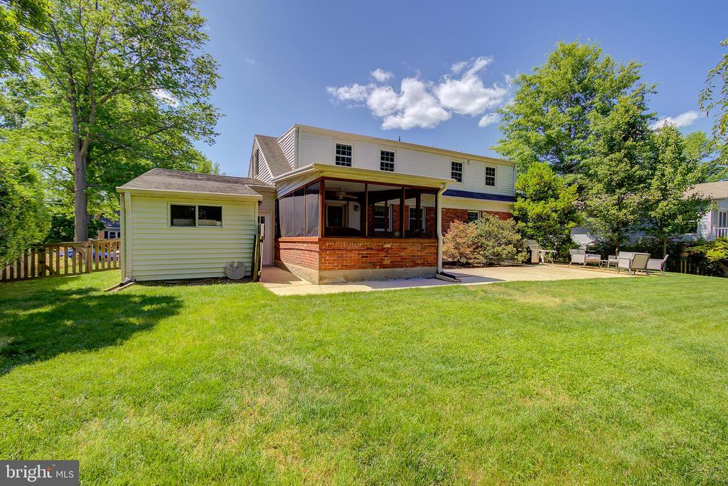 View of Rear of Home, Screened Porch, and Workshop - 2502 CHILDS LN, ALEXANDRIA