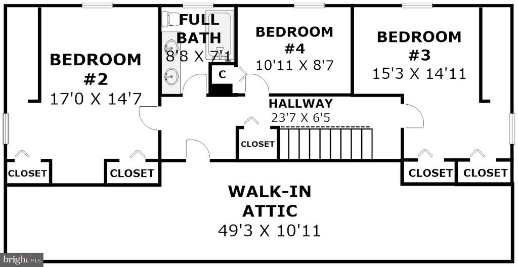 Floor Plan - Upper Level (Dimensions Approximate) - 2502 CHILDS LN, ALEXANDRIA