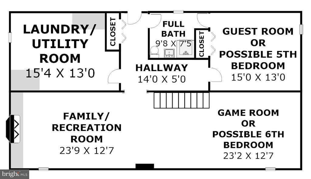 Floor Plan - Lower Level (Dimensions Approximate) - 2502 CHILDS LN, ALEXANDRIA