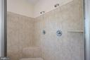Master bathroom shower - 17215 IVANDALE RD, HAMILTON