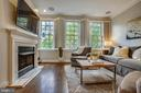 Gracious living room with gas fireplace - 8 KEITHS LN, ALEXANDRIA