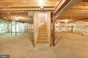 huge unfinished basement - 15302 SWEETRIDGE RD, SILVER SPRING