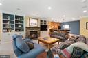 Finished Lower Level Family Room - 11500 TURNING LEAF CT, SPOTSYLVANIA