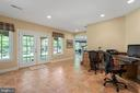 French Doors to Covered Flagstone Patio Area - 11500 TURNING LEAF CT, SPOTSYLVANIA