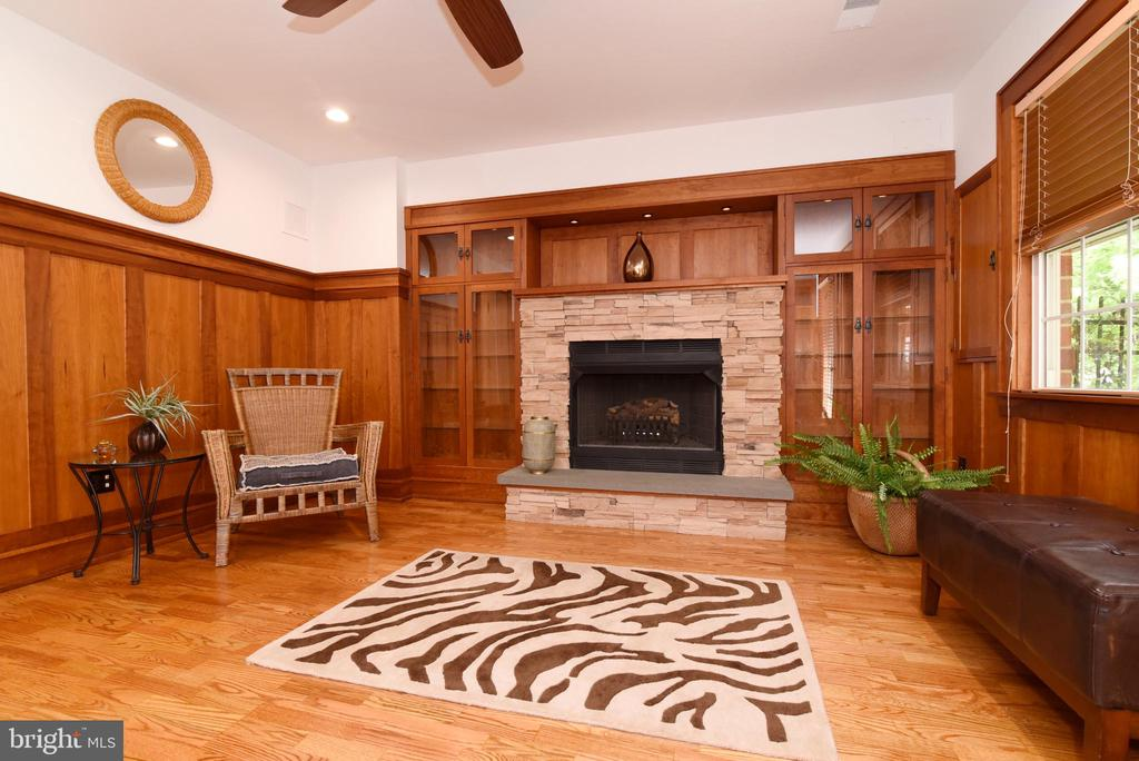 Gas fireplace in the Den - 12143 CHANCERY STATION CIR, RESTON