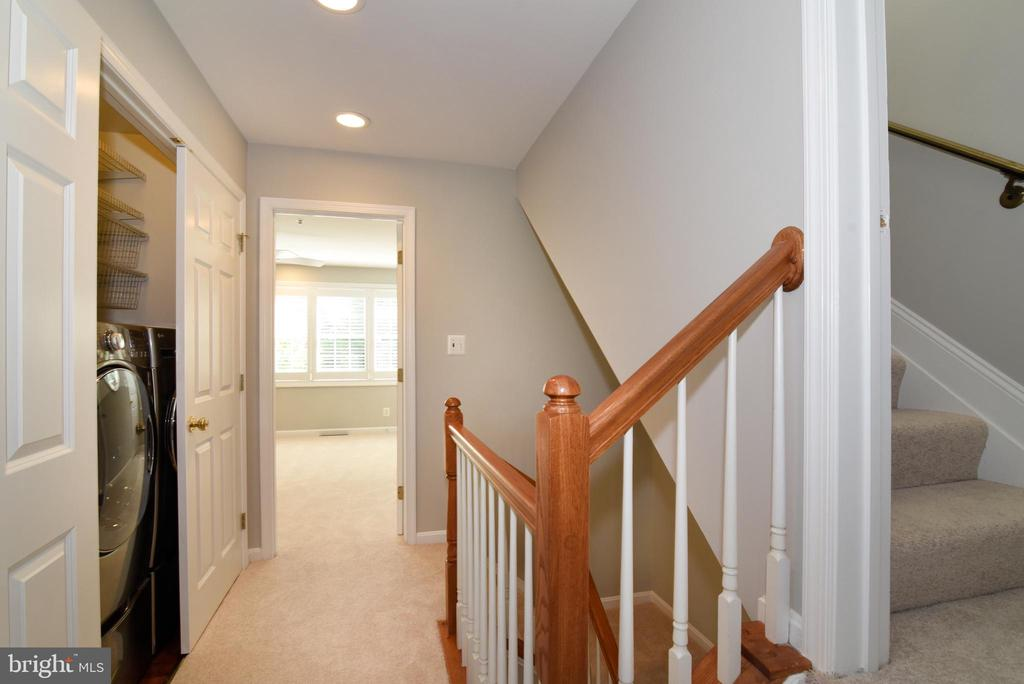 Hallway and laundry area on 3rd floor - 12143 CHANCERY STATION CIR, RESTON