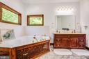Primary Bathroom with Jacuzzi tub - 6559 OVERLOOK DR, KING GEORGE