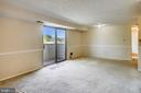 SLIDING GLASS DOOR TO BALCONY FROM LR/DR - 12407 HICKORY TREE WAY #533, GERMANTOWN