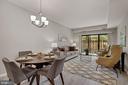 Dining & living area - 2100 LEE HWY #G11, ARLINGTON