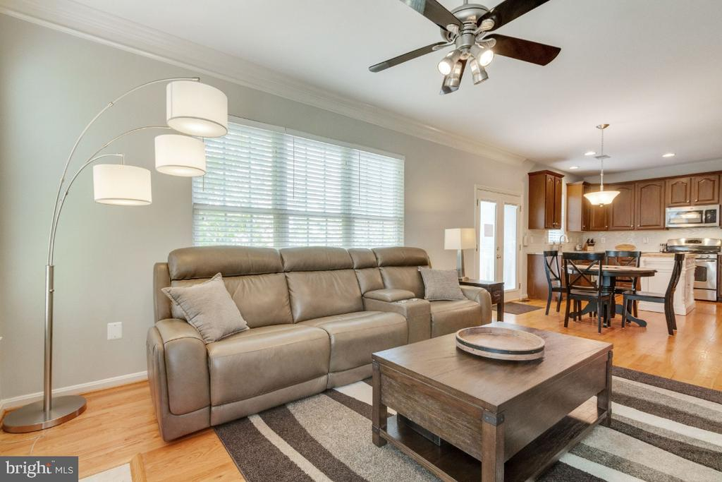 Family Room with Gas Fireplace - 25554 DABNER DR, CHANTILLY