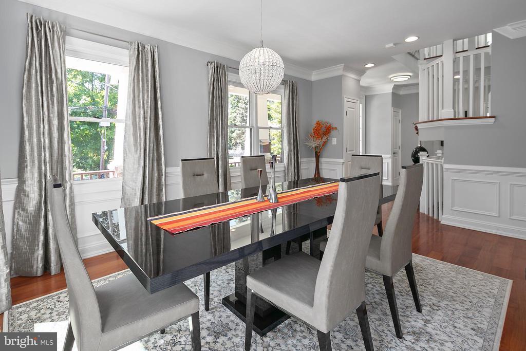 Formal sunlit dining room - 2507 11TH ST N, ARLINGTON