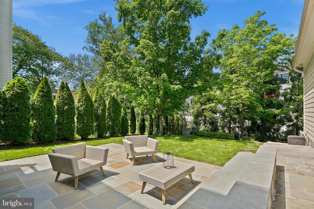 Terrace with ample seating in private setting - 2507 11TH ST N, ARLINGTON