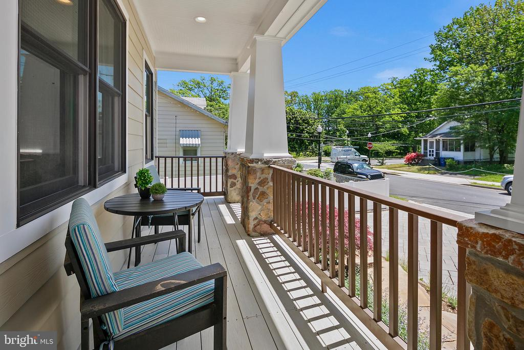 Front porch views of street and park - 2507 11TH ST N, ARLINGTON