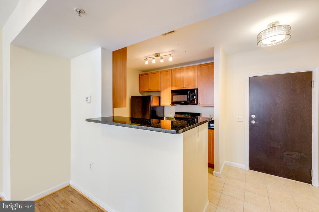 Kitchen View Updated Lights - 851 N GLEBE RD #115, ARLINGTON