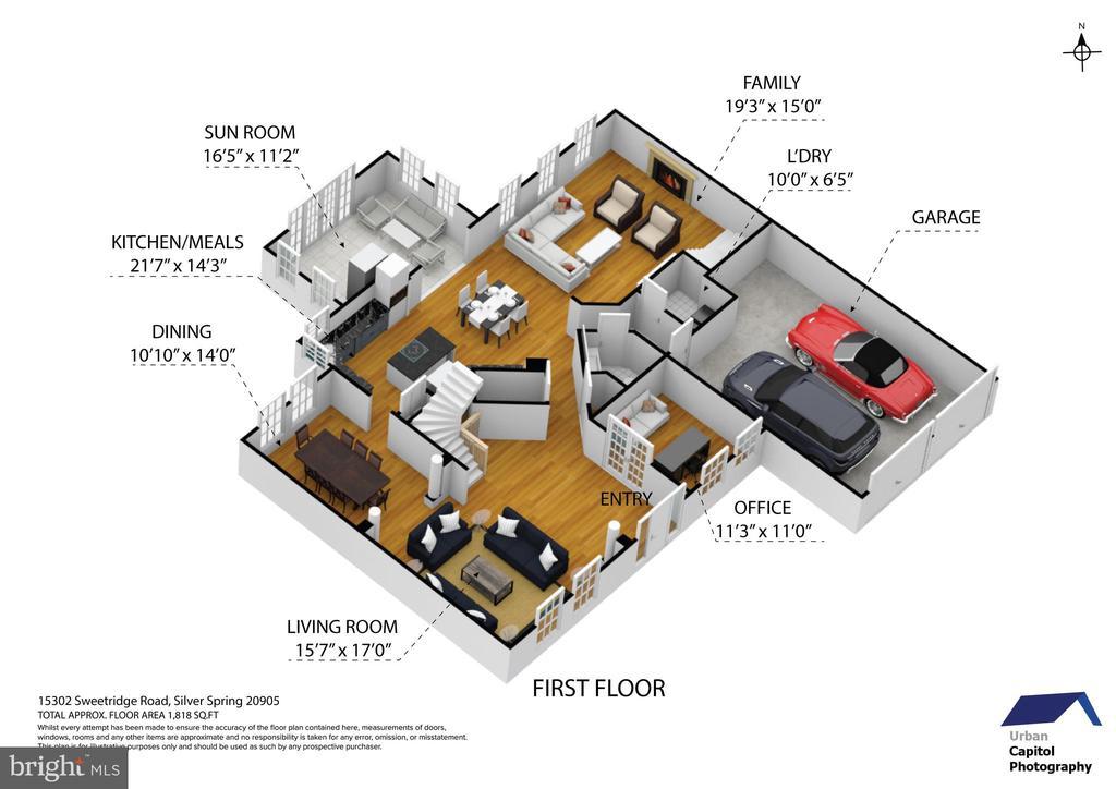 floor plan - first floor - 15302 SWEETRIDGE RD, SILVER SPRING