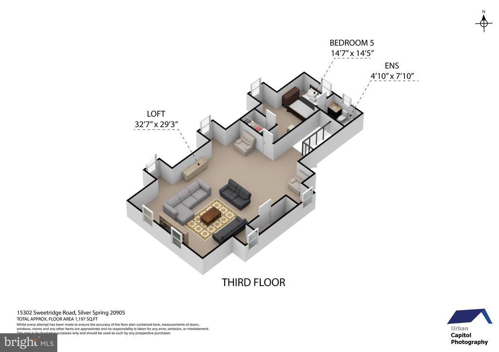 floor plan - third floor - 15302 SWEETRIDGE RD, SILVER SPRING