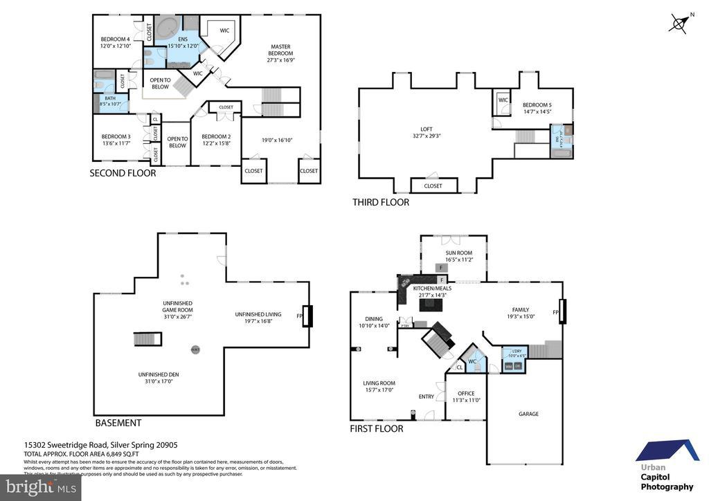floor plan - ALL levels - 15302 SWEETRIDGE RD, SILVER SPRING
