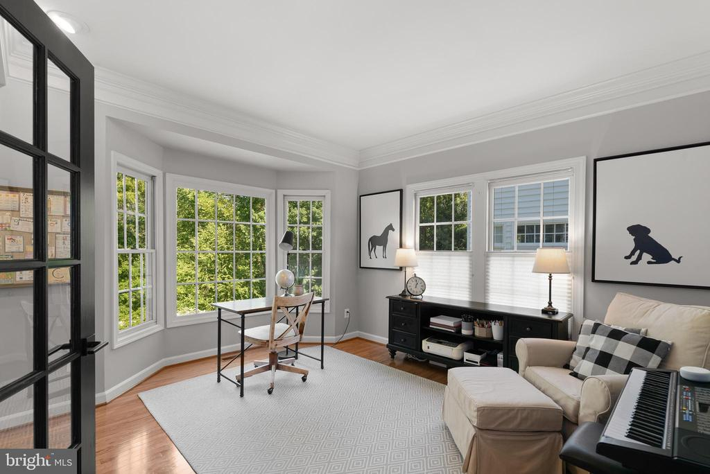 Main Level Office w/ Built-Ins and Bay Window - 47273 OX BOW CIR, STERLING