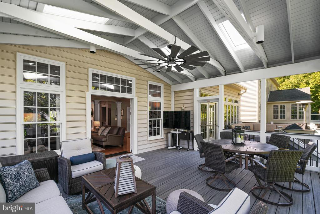 French Doors to Screened Porch off Family Room - 47273 OX BOW CIR, STERLING