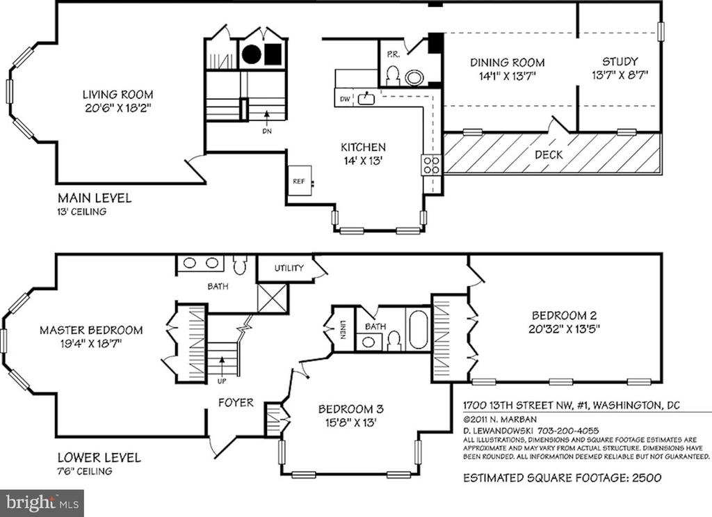 Unit 1 Floorplan - 1700 13TH ST NW, WASHINGTON