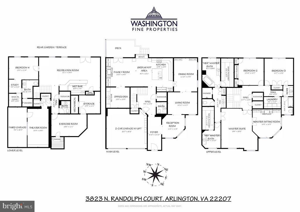 Floor Plans - 3823 N RANDOLPH CT, ARLINGTON