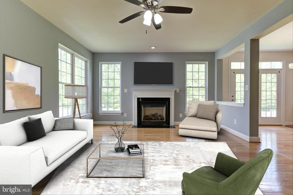 Family Room with furniture - 23096 RED ADMIRAL PL, BRAMBLETON