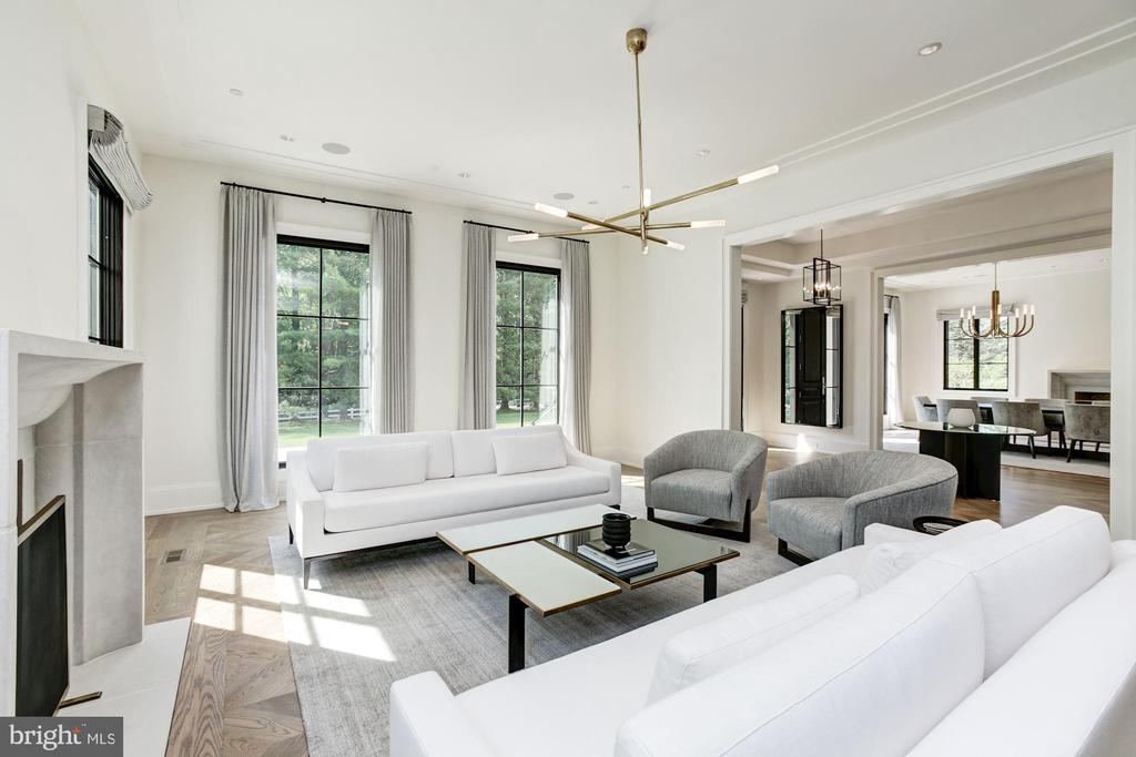 Living Room - 8905 HOLLY LEAF LN, BETHESDA