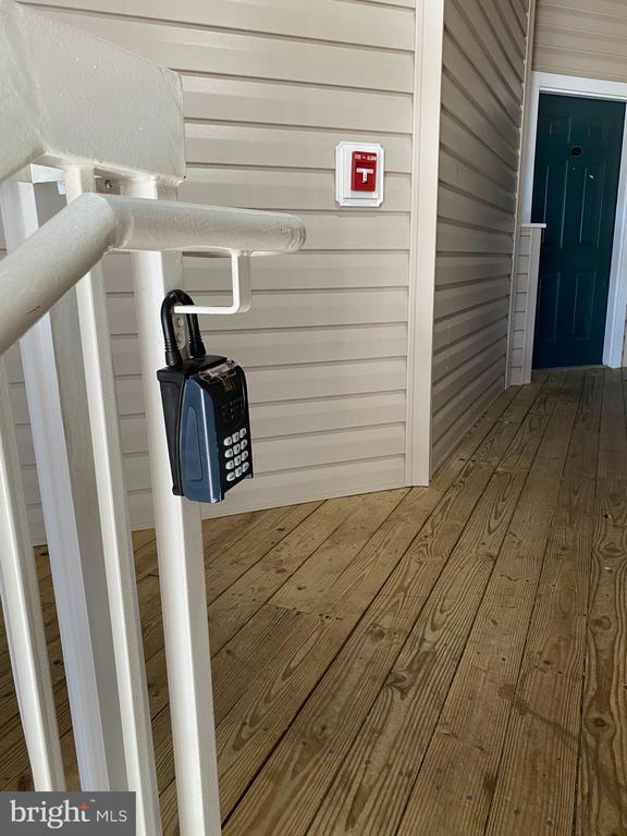 Location of lock box - 22664 BLUE ELDER TER #202, BRAMBLETON
