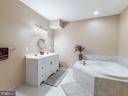 Basement Full Bath-Sink and Jacuzzi - 12809 GLENDALE CT, FREDERICKSBURG