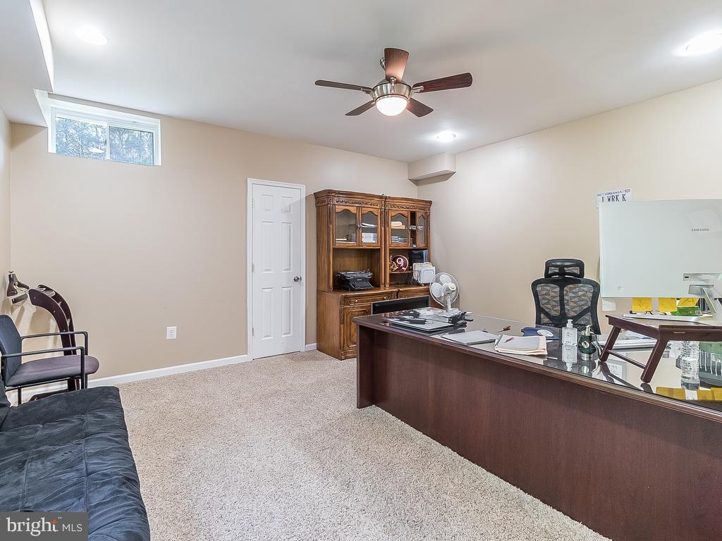 Basement Office OR Bedroom - 12809 GLENDALE CT, FREDERICKSBURG