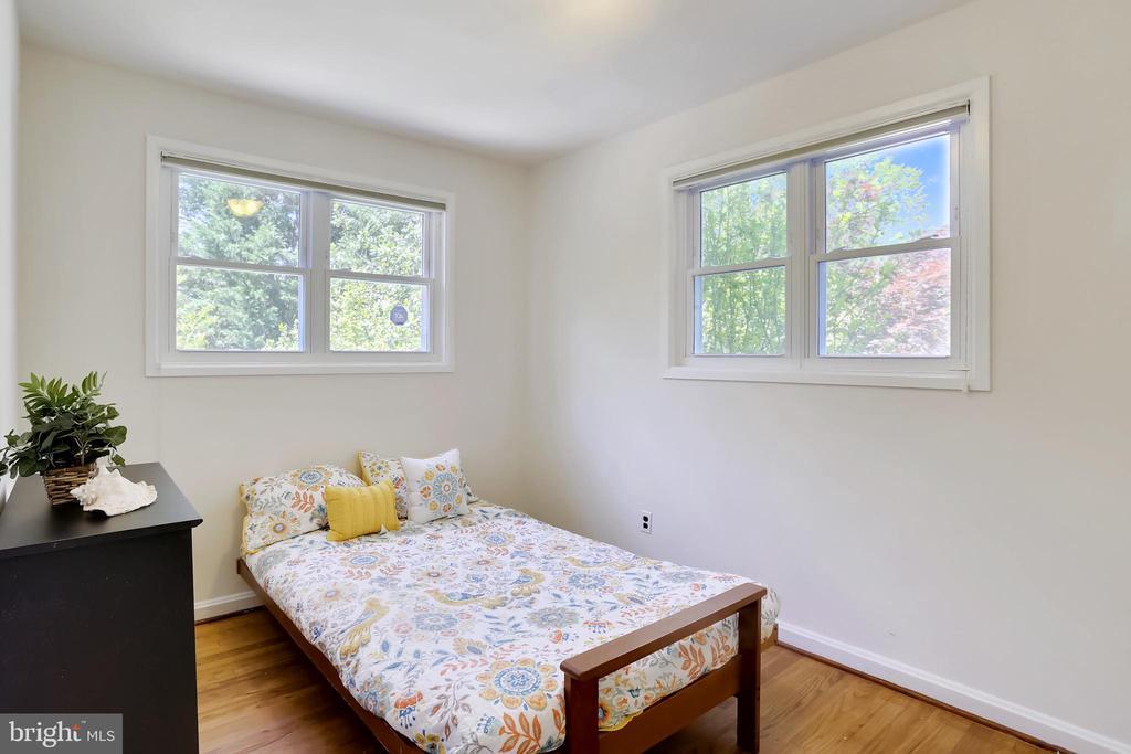 Main Floor Bedroom - notice the newer windows - 2415 EVANS DR, SILVER SPRING