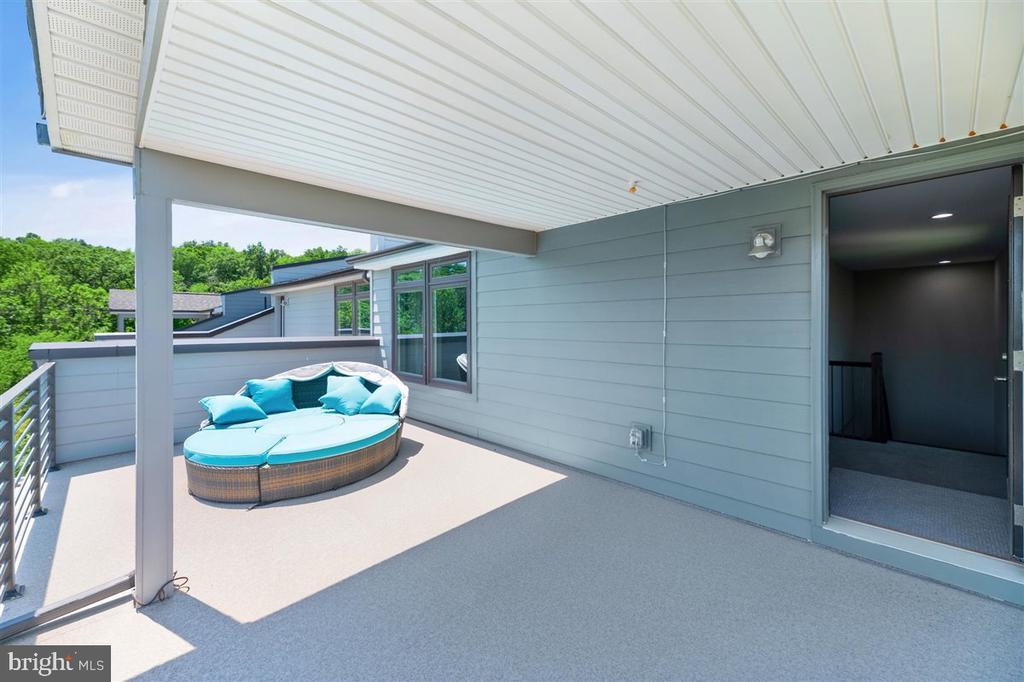 balcony - 1800 BLUE MARBLE TER SE, LEESBURG