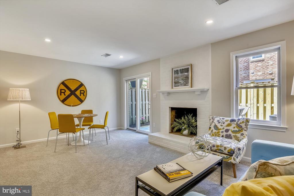 Entry Level - Rec Room with Wood-Burning Fireplace - 1186 N VERMONT ST, ARLINGTON