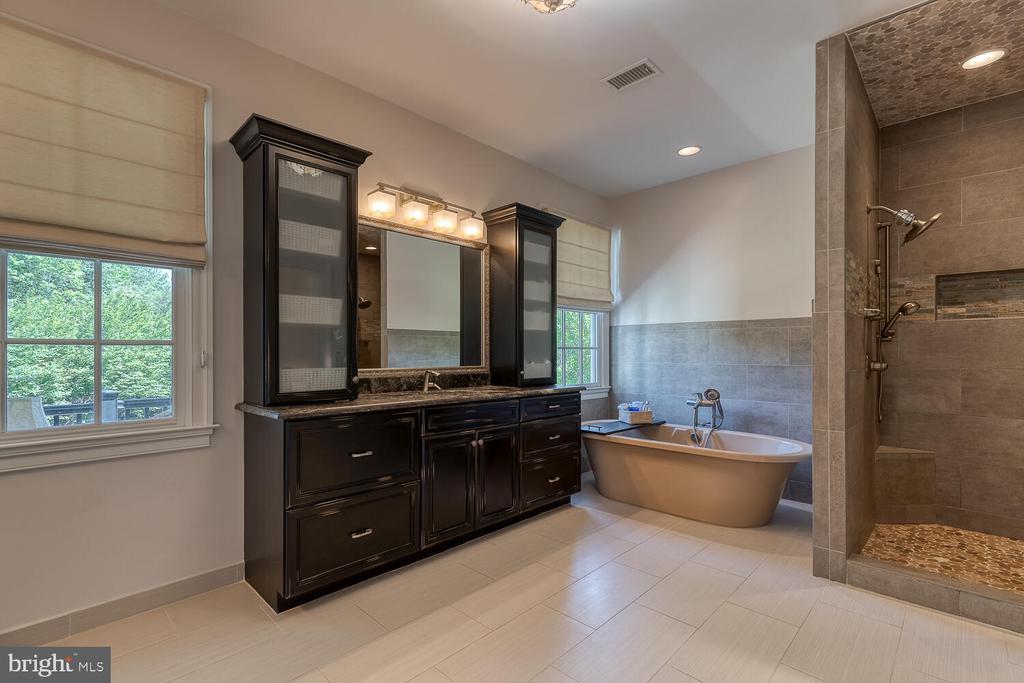 Soaking tub, dual-head shower. - 42091 NOLEN CT, LEESBURG