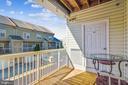 Balcony Perfect for Morning Coffee - 22725 THIMBLEBERRY SQ #203, BRAMBLETON